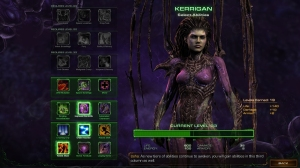 Kerrigan gains new abilities as she levels up over time.