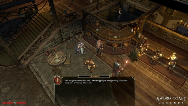 The player talking to an innkeeper.
